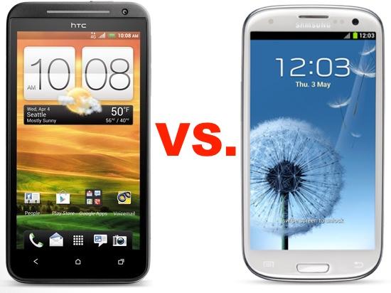 HTC EVO 4G LTE vs Samsung Galaxy S III
