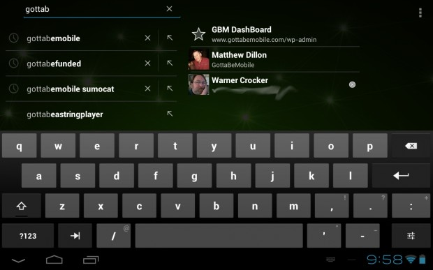 Toshiba Excite 7.7 keyboard