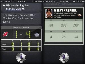 iOS 6 Hands On Siri Sports