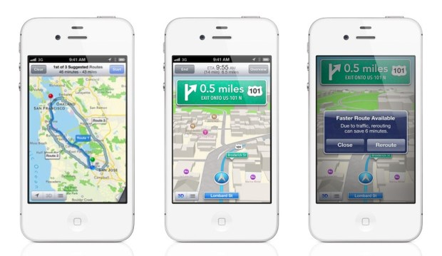 Apple Maps delivers turn-by-turn directions to the iPhone with iOS 6.