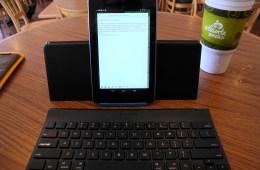 nexus 7 on logitech android keyboard