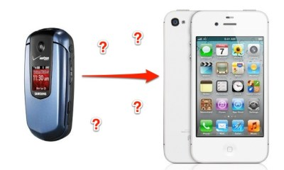 Flip phone to iPhone 4S or iPhone 5