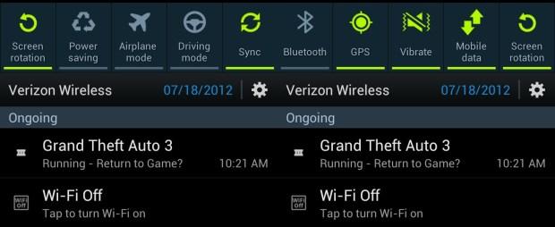 Galaxy S III notifications