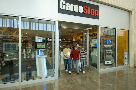 Gamestop retail store