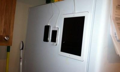 Magskin on fridge