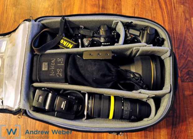 Olympic Photographer Gear bag cameras
