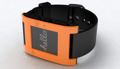 Pebble Smart Watch orange
