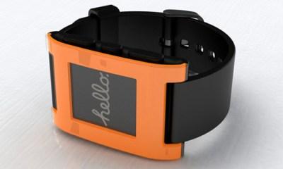 Pebble Smart Watch orange