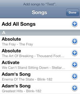 Add Songs