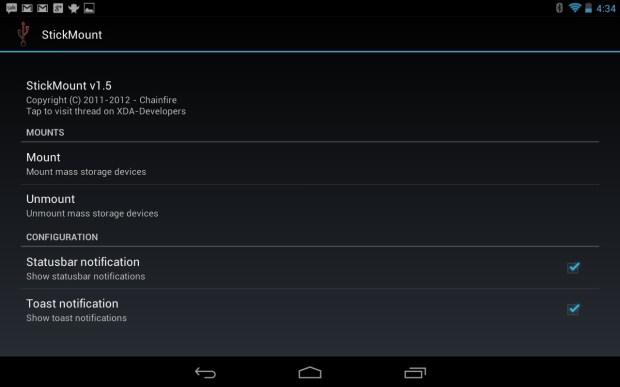 StickMount Nexus 7