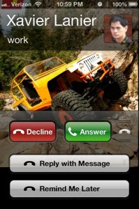 iOS 6 Reply with mEssage feature