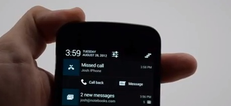 Android Jelly Bean Expanded Notifications