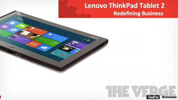 Lenovo Windows 8 ThinkPad Tablet 2
