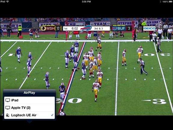 NFL Preseason Live Review iPad - AirPlay