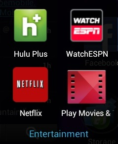 Nexus 7 Apps - Entertainment