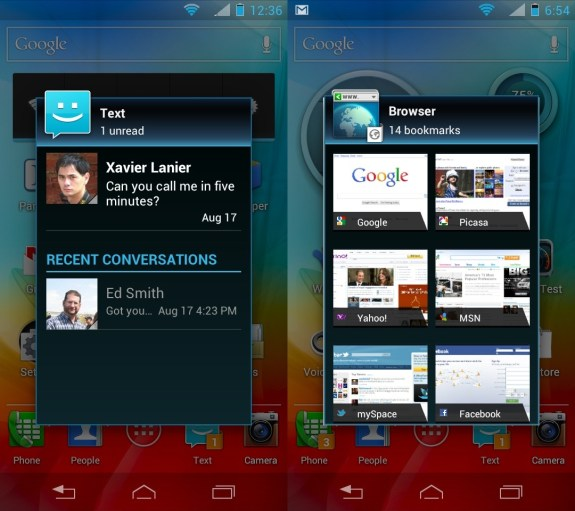 Phton q 4G LTE live icons