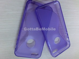 iPhone 5 Case TPU Purple two cases