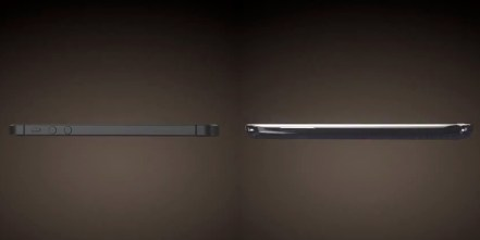 iPhone 5 vs Galaxy S III 3D render thickness