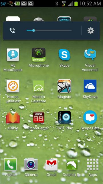 Samsung Galaxy S III Running Android 4.0 Ice Cream Sandwich