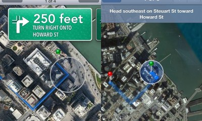 Apple Maps Navigation iOS 6 vs iOS 5