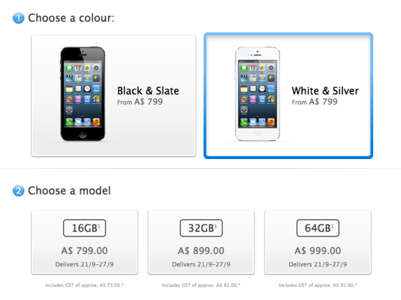 Australia iPhone 5 pre-orders sold out