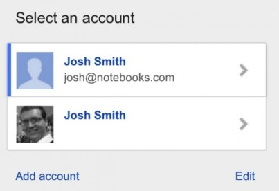 Google iPhone Account Chooser 4