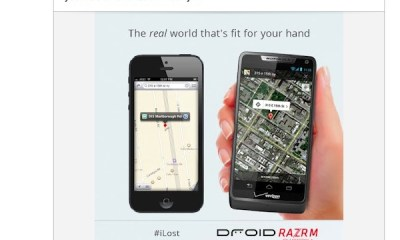 Motorola Apple Maps iLost ad