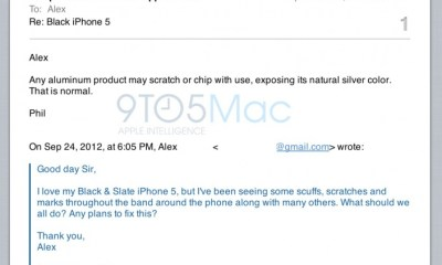 Phil Schiller iPhone 5 scratch email