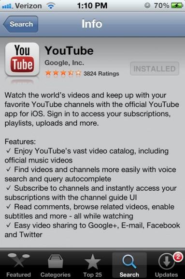 free  youtube er for samsung wave 2