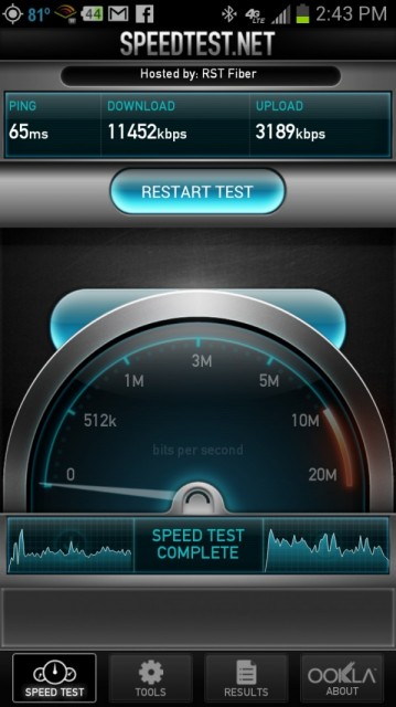 gs3 speed test