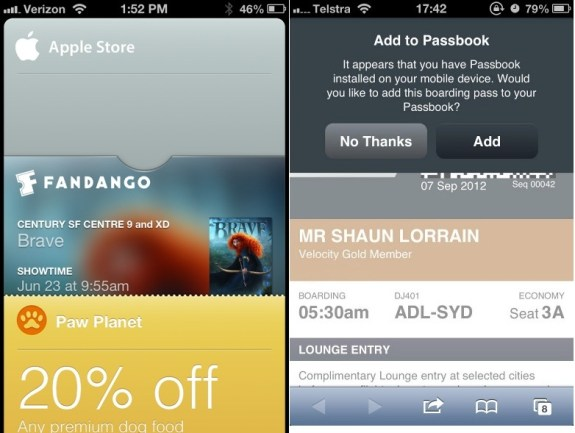 iOS 6 Passbook