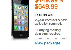 iPhone 5 early upgrade deals page