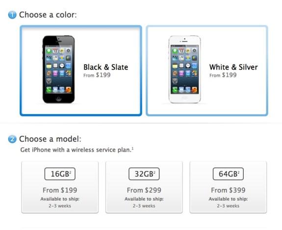 iPhone 5 pre-order 2 million October
