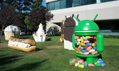 jellybean statue on Google lawn