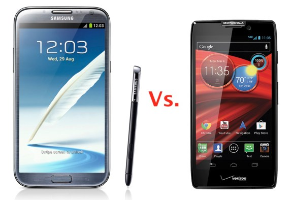 Galaxy Note II vs Droid RAZR MAXX HD HERO