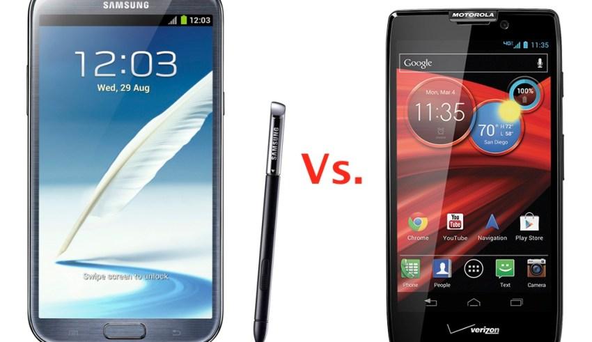 Galaxy Note II vs Droid RAZR MAXX HD HERO