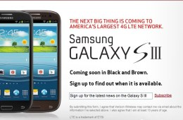 Galaxy S III Black or Brown Verizon