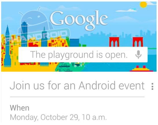 Google-Andorid-event-invite-Oct-29