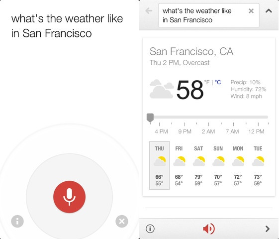 Google Now for iPhone beats Android