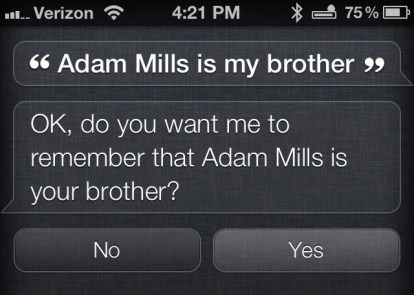 Siri-Who-you-are-related-to