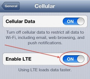 Turn off 4G LTE to save battery life and get better coverage.
