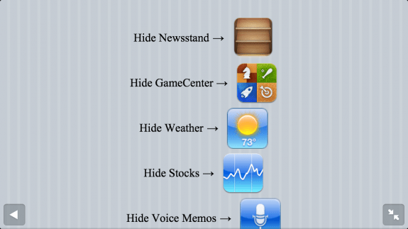 hide iphone apps