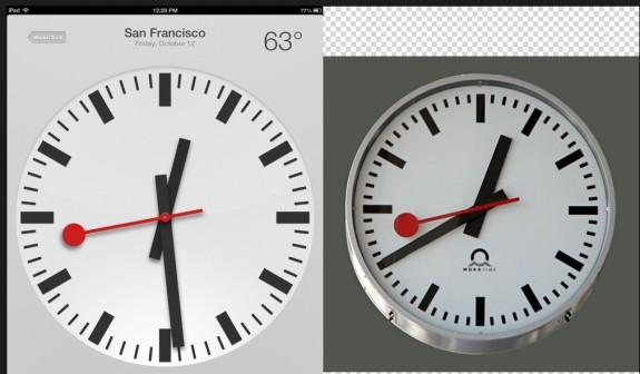 iPad Swiss Clock