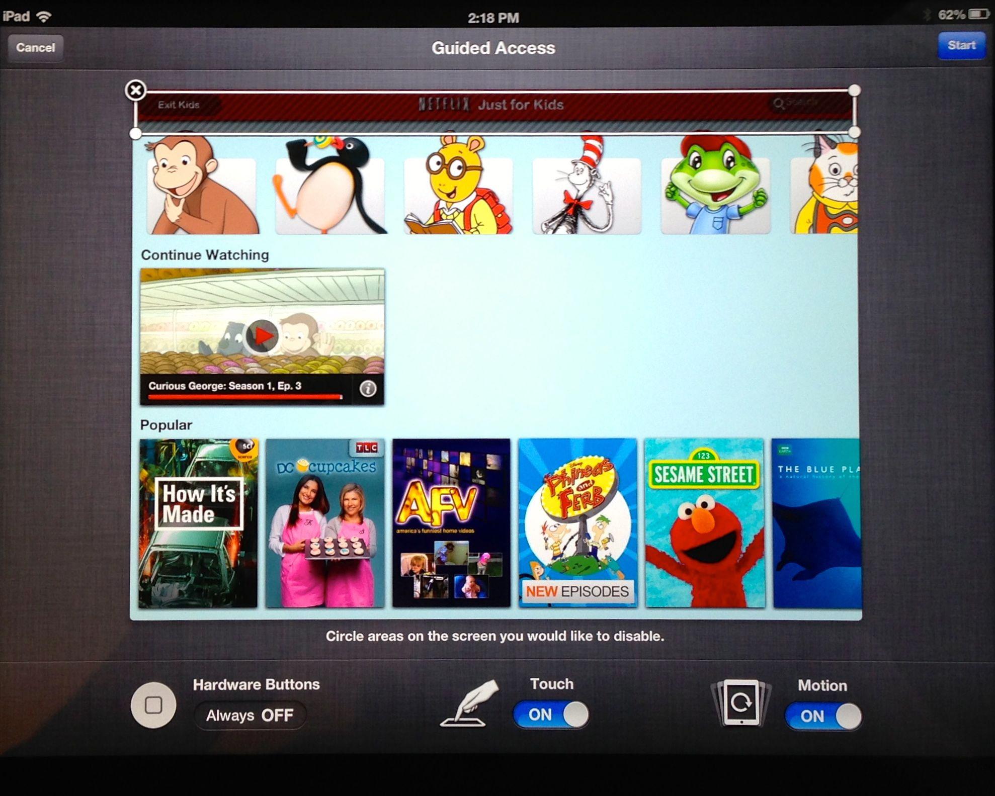 How to Lock the iPad to a Single App for Kid Mode