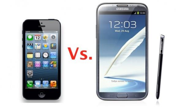 iPhone 5 vs Galaxy Note 2