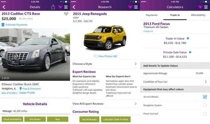 Cars.com Car Buying App