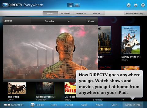 Direct TV live TV iPad app