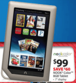 Walmart Black Friday Kindle Nook Color $99