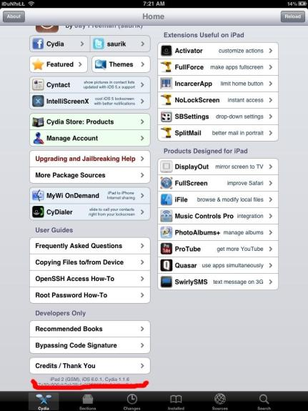 ipad jailbreak iOS 6.0.1