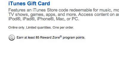 Best Buy iTunes gift card